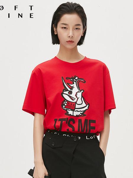 LOFT SHINE女装品牌2020春夏趣味印花圆领T恤