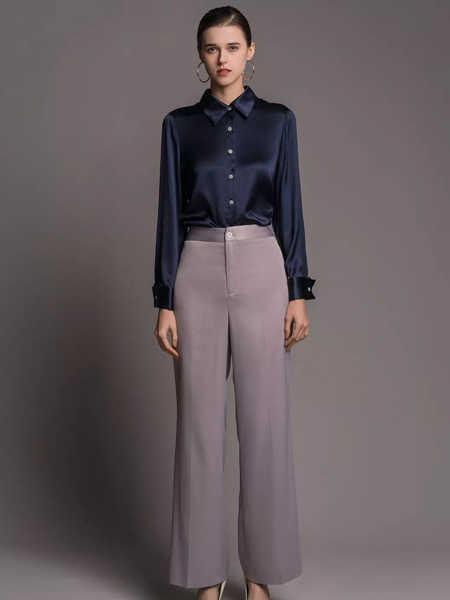TieForHer女装品牌2020春夏职业正式衬衫