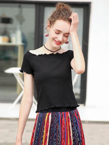 MSAY女装品牌2020春夏一字领针织短袖