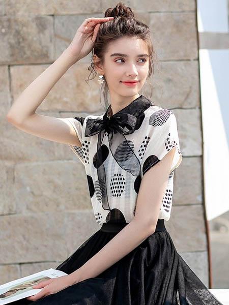 MSAY女装品牌2020春夏网纱知性衬衣