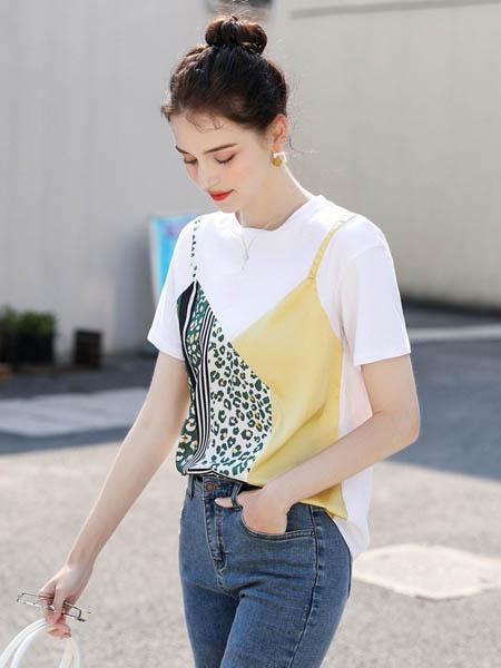 MSAY女装品牌2020春夏时尚印花图案短袖