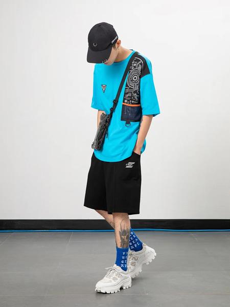 JASONWOOD 坚持我的休闲品牌2020春夏鲜艳蓝色T恤