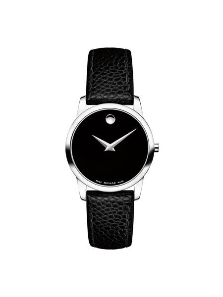 Movado国际品牌男士商务皮带手表