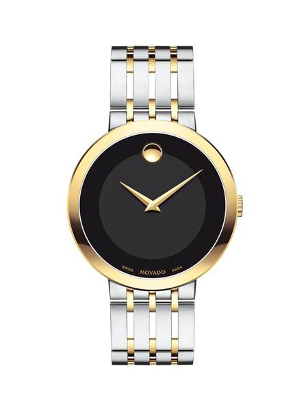 Movado国际品牌石英钟设计感复古手表