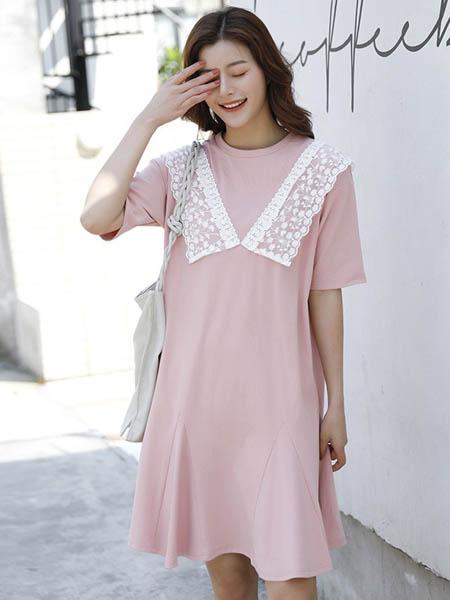 乔薇依JoiueVarry女装品牌2020春夏宽松纯棉孕妇连衣裙