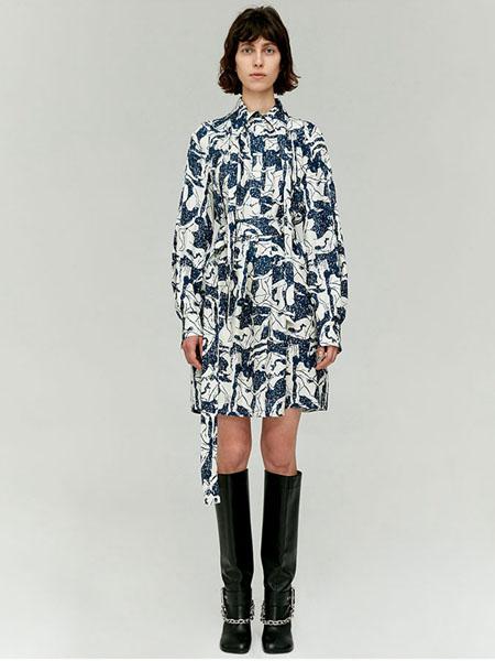 IMMI女装品牌2020春夏宽松雪纺连衣裙