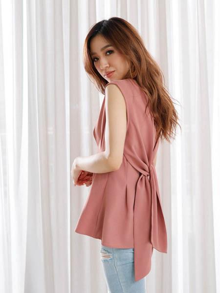 LipService女裝品牌2020春夏絲綢無袖短袖