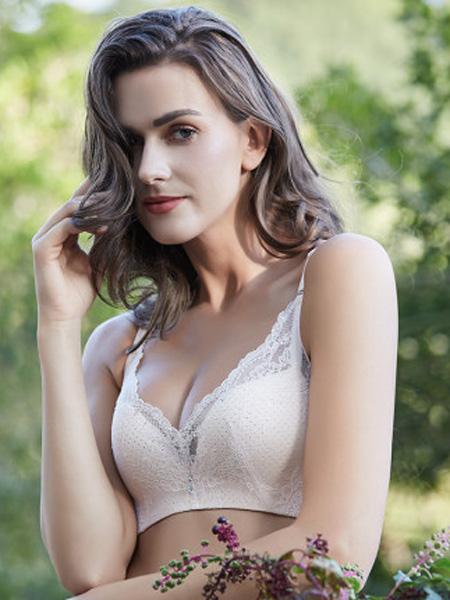 健尔弹内衣品牌2020春夏钢圈透气薄款三排扣无痕内衣性感聚拢款蕾丝时尚美背文胸