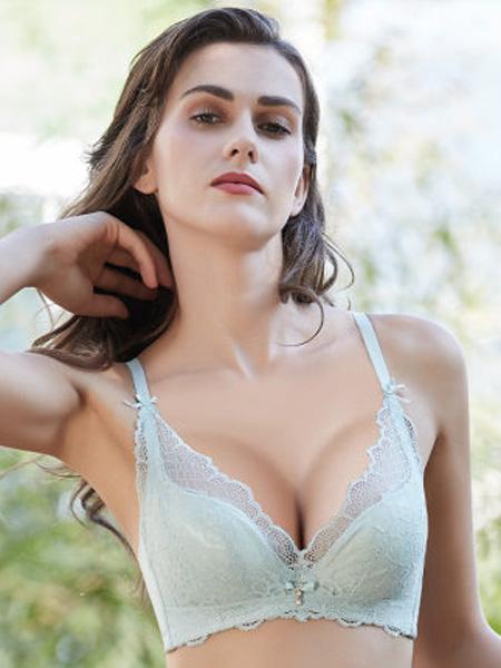 健尔弹内衣品牌2020春夏义乳专用文胸罩小性感蕾丝一根带岚曦非海绵乳胶术后内衣女