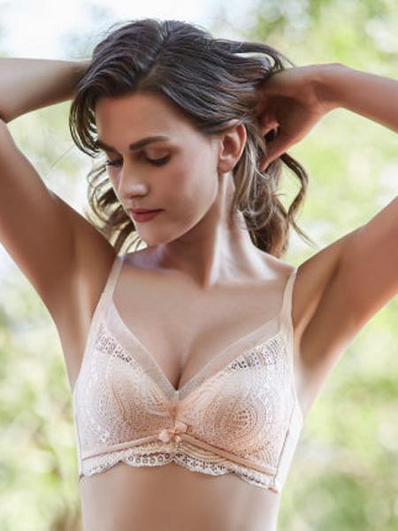健尔弹内衣品牌2020春夏婴儿棉无钢圈三排扣中厚款内衣收副乳防下垂调整型文胸