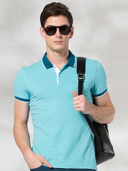ZIOTELLO国际品牌新款立领商务休闲短袖T恤