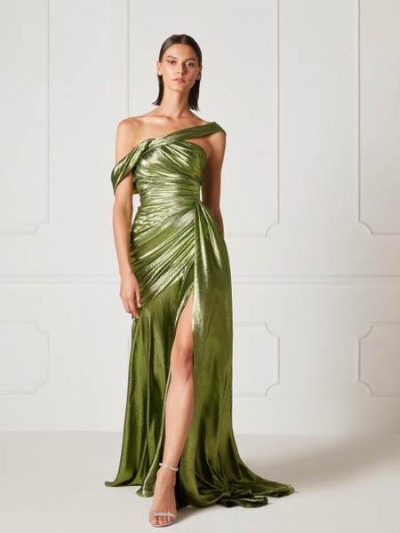Hamda Al Fahim国际品牌性感露肩修身裙