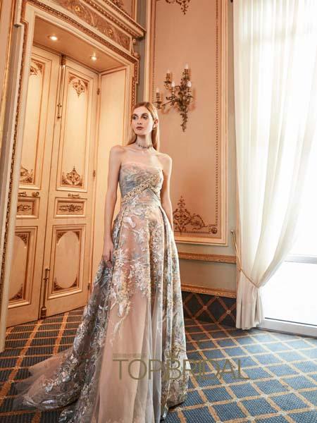 YolanCris Bridal Fall国际品牌梦幻网纱浪漫连衣裙