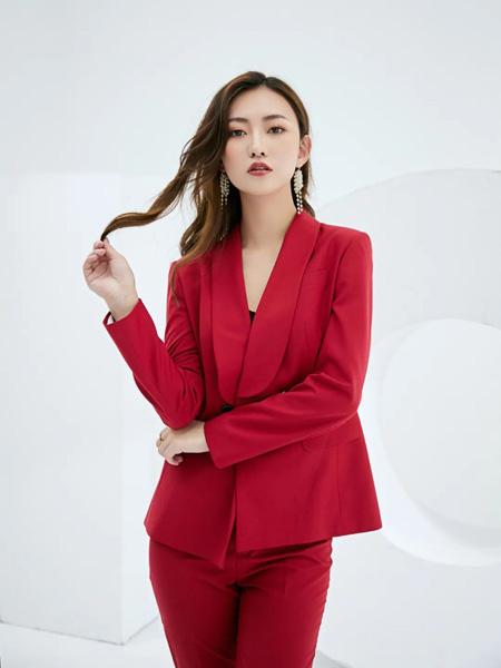 巴蒂米澜女装品牌2020春夏大红色西装套装