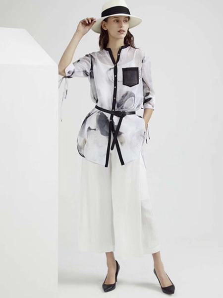 Guke谷可女装品牌2020春夏薄纱外套白色