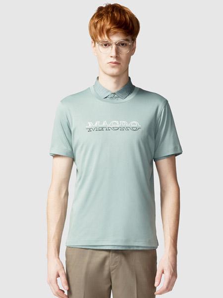 步森女装品牌2020春夏绿色翻领T恤