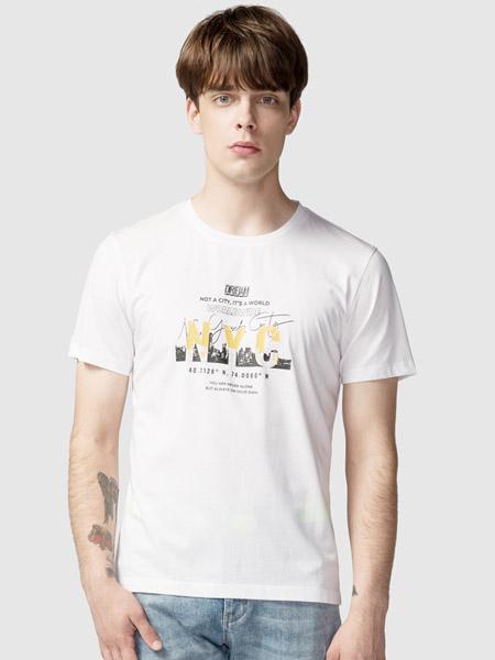 步森女装品牌2020春夏白色T恤