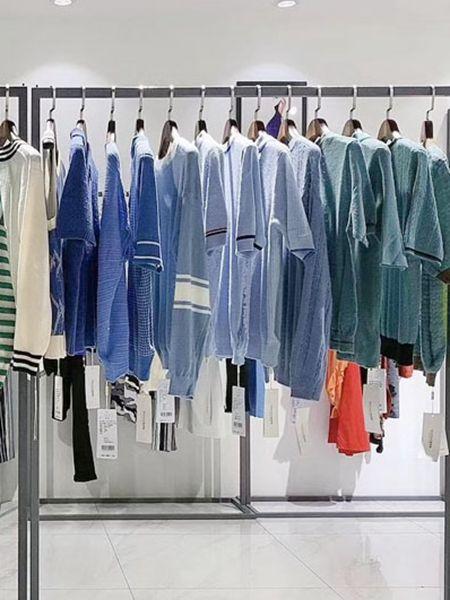 衣言折扣品牌2020秋冬蓝色绿色长袖针织衫