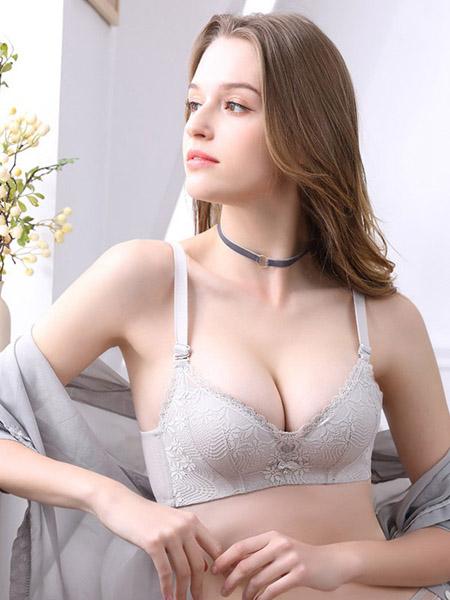 英姿丽人内衣品牌2020春夏灰色文胸套装