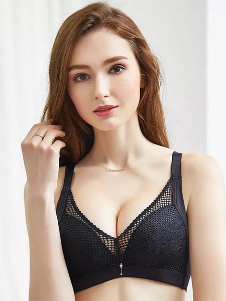 英姿丽人内衣品牌2020春夏黑色文胸套装