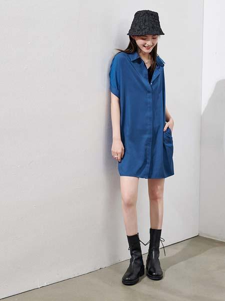 Homophony女装品牌2020春夏复古衬衫裙