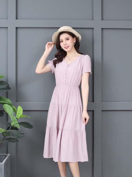 惠挑汇选女装品牌2020春夏时尚知性甜美连衣裙