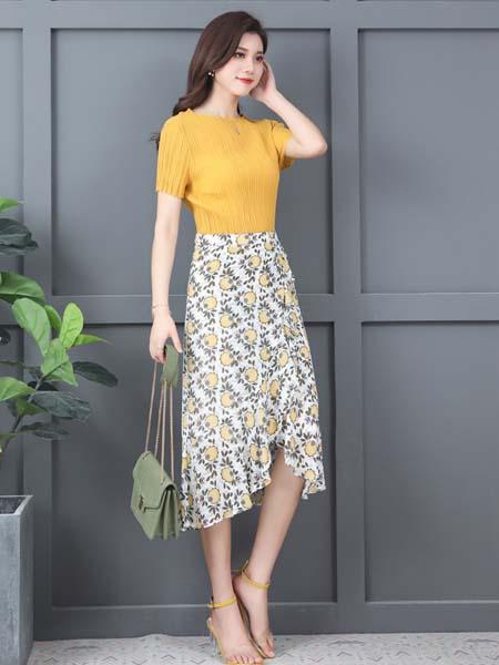 惠挑汇选女装品牌2020春夏时尚知性甜美套装裙