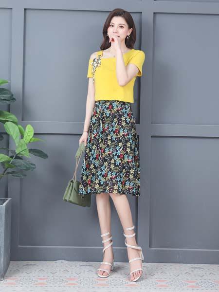 惠挑汇选女装品牌2020春夏甜美知性衬衣套装