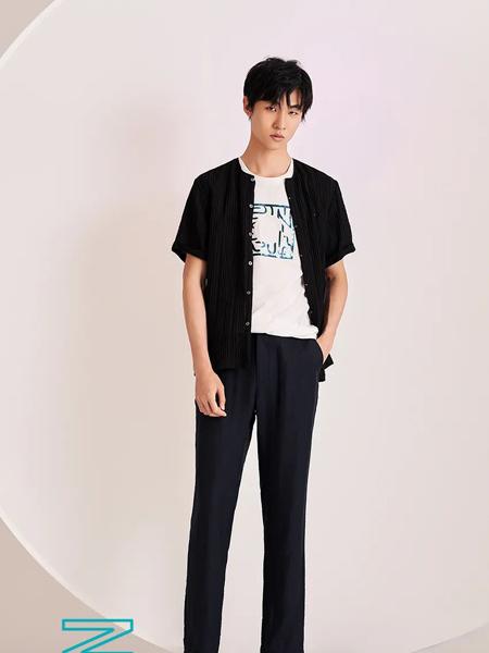 佛伦斯男装品牌2020春夏黑色衬衫