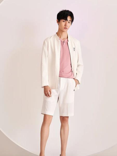 佛伦斯男装品牌2020春夏白色西装短裤