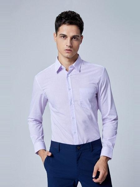 G2000男装品牌2020春夏新款修身条纹衬衣衬衫男长袖