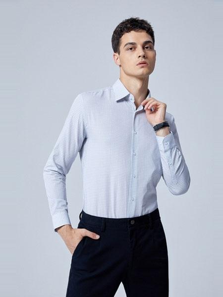 G2000男装品牌2020春夏新款格纹衬衣衬衫男长袖