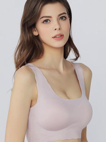 MYBODY内衣品牌2020春夏女士宽肩带净色美背抹胸含胸片运动背心胸罩