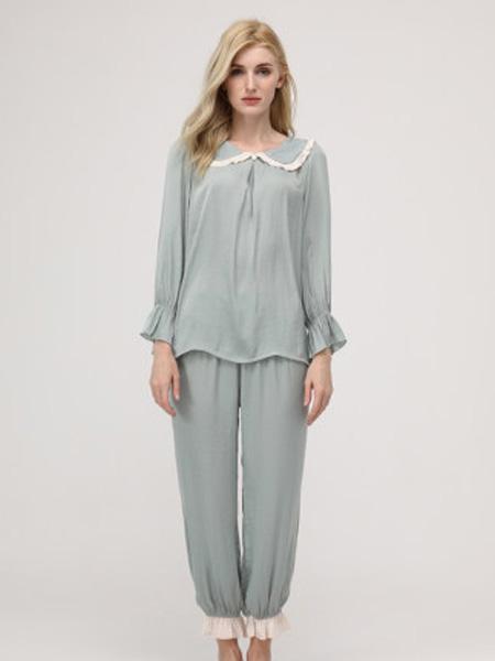 MYBODY内衣品牌2020春夏睡衣女夏薄款可爱 网红睡衣舒适薄款长款家居服