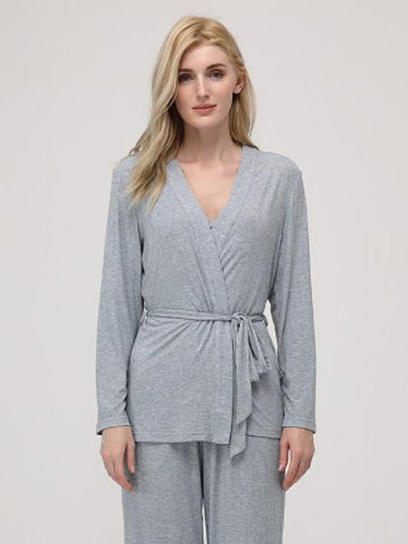 MYBODY内衣品牌2020春秋女士薄款家居服舒适可外穿睡衣三件套装
