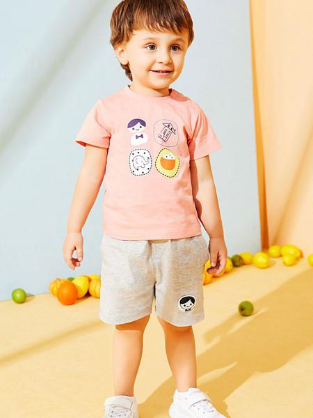 红蜻蜓童装品牌2020春夏男童运动套装纯棉轻薄短袖T恤简约儿童短裤