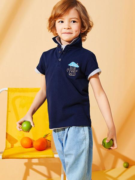 红蜻蜓童装品牌2020春夏男童POLO衫2020新款夏装纯色翻领儿童绅士百搭短袖