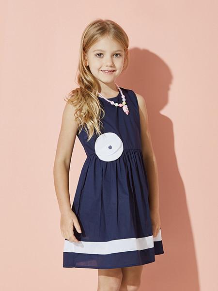 ABC KIDS童装品牌2020春夏背心裙子女童连衣裙无袖夏季新款女孩甜美公主裙