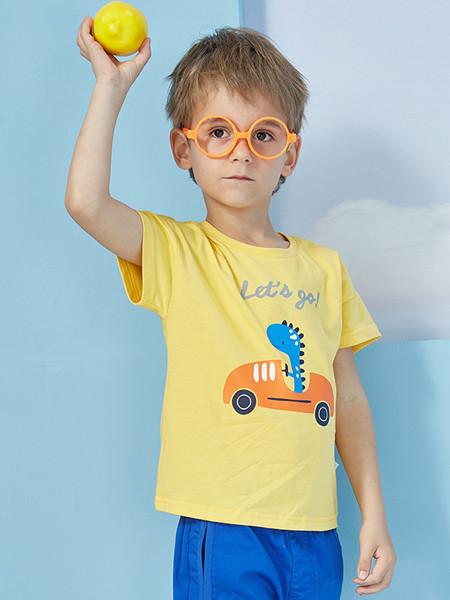 ABC KIDS童装品牌2020春夏卡通休闲宝宝短袖纯棉体恤男童T恤