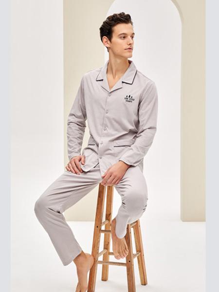 婵之云内衣品牌2020春夏灰色睡衣家居服