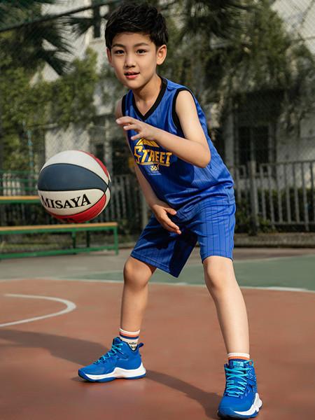 361童装童装品牌2020春夏透气速干篮球套装儿童中大童休闲运动2件套