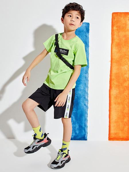 361童装童装品牌2020春夏新款短袖T恤男童短裤运动套装
