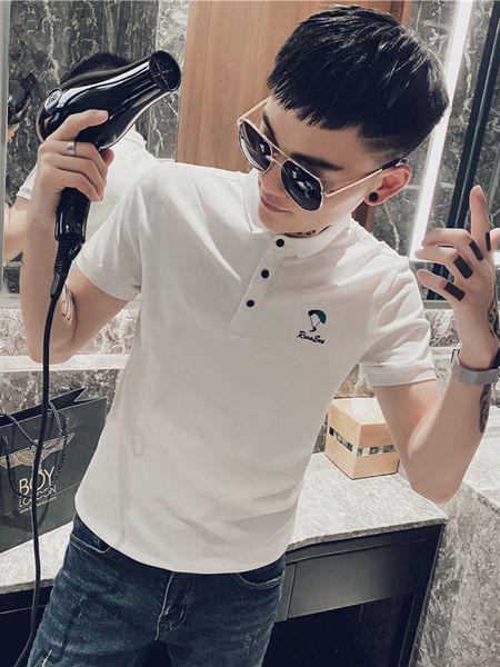 乔治邦尼男装品牌2020春夏白色T恤