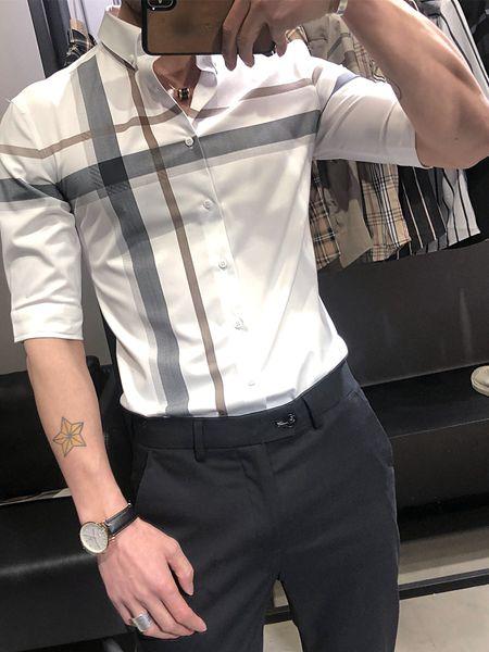 乔治邦尼男装品牌2020春夏翻领白色T恤