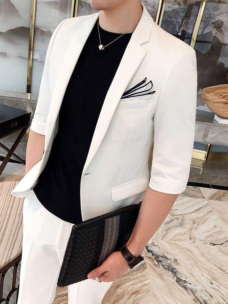 乔治邦尼男装品牌2020春夏白色西装套装