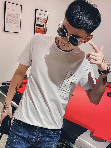 乔治邦尼男装品牌2020春夏米色T恤