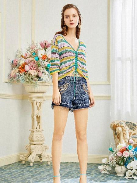 OCKKJ女装品牌2020春夏V领针织衫上衣薄款