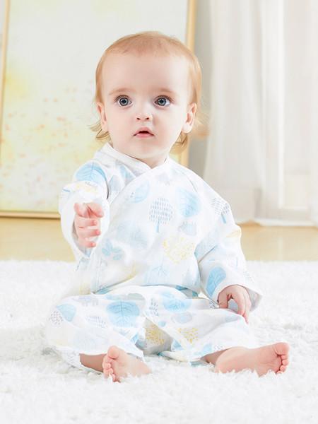 丽婴房童装品牌2020春夏婴儿衣服男女宝宝纯棉交领系带汉服款内衣套装