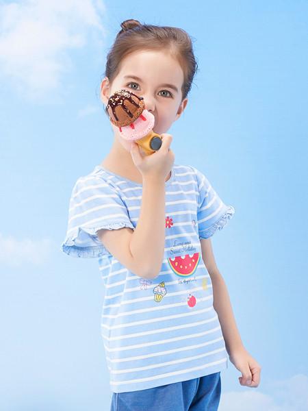 丽婴房童装品牌2020春夏女童时尚甜美可爱T恤女宝宝柔软舒适上衣