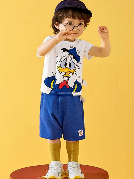 太平鸟童装品牌2020春夏迪士尼系列幼童套装男宝宝两件套唐老鸭洋气